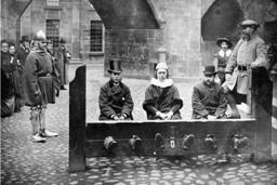 Royal Jubilee Exhibition - Old Manchester Street Stocks 1887.JPG.